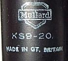 Mullard KS9-20 label