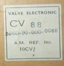 CV88 box label